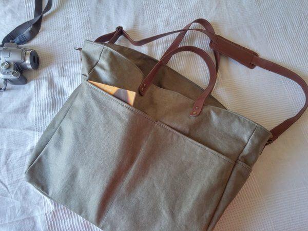 Overnight bag lying flat