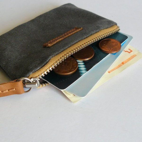side view of coin purse