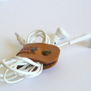 Earphone holder with cord