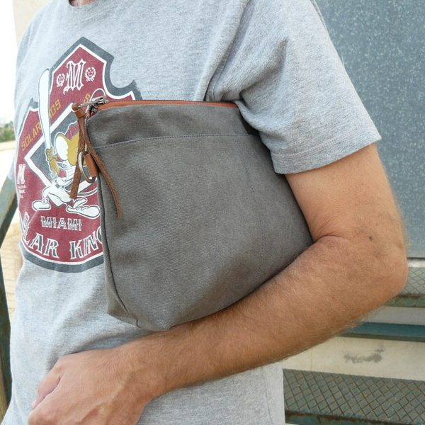 Grey pouch size