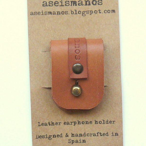 Earphone holder as packed