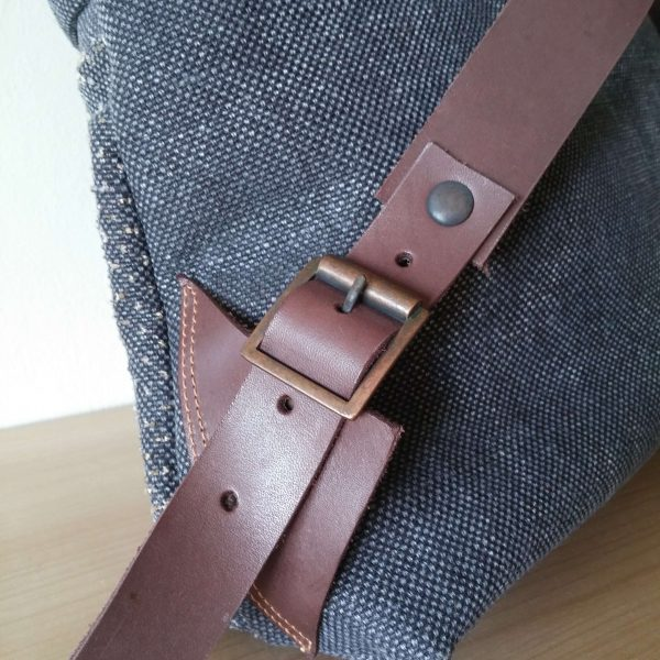Large backpack leather detail
