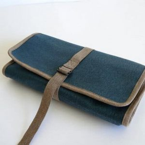 Rollup blue waxed canvas CLOSED
