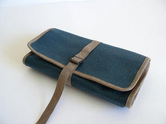Rollup blue waxed canvasCLOSED