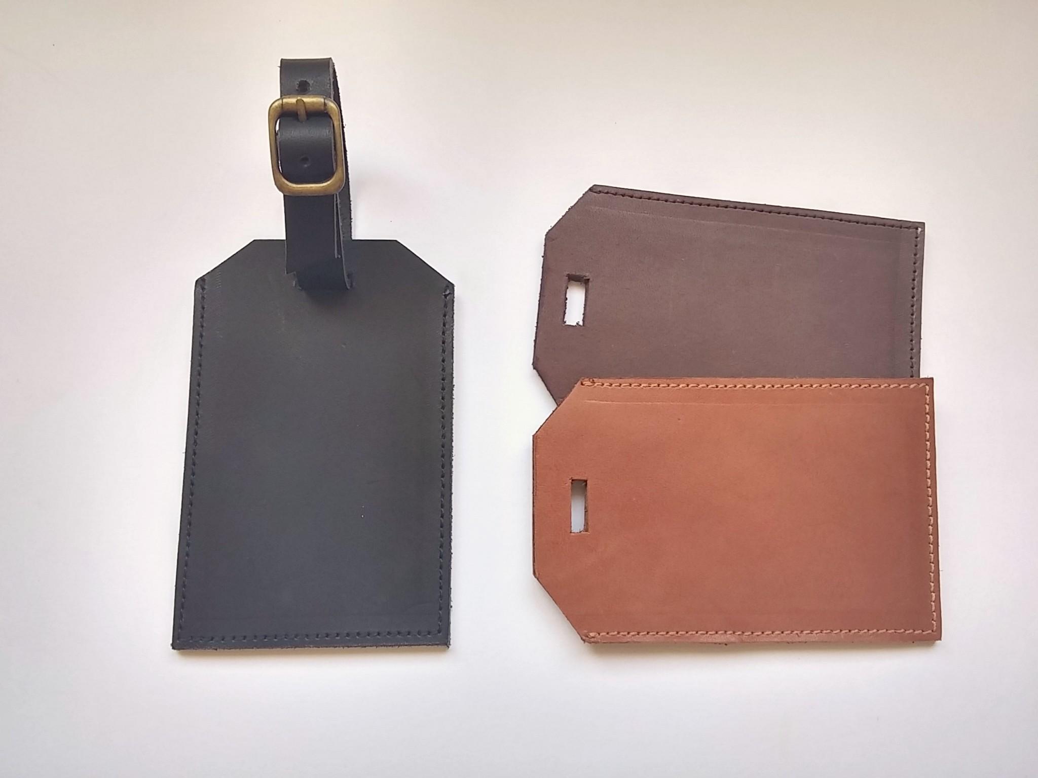d6d1c9c312d4 Monogram leather luggage tags
