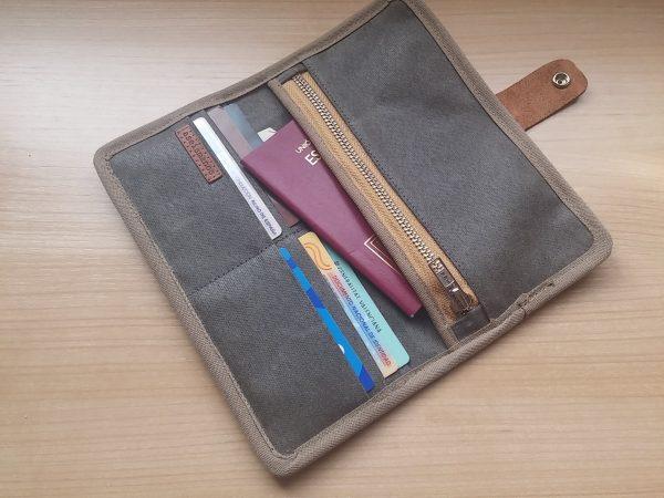 open wallet with passport
