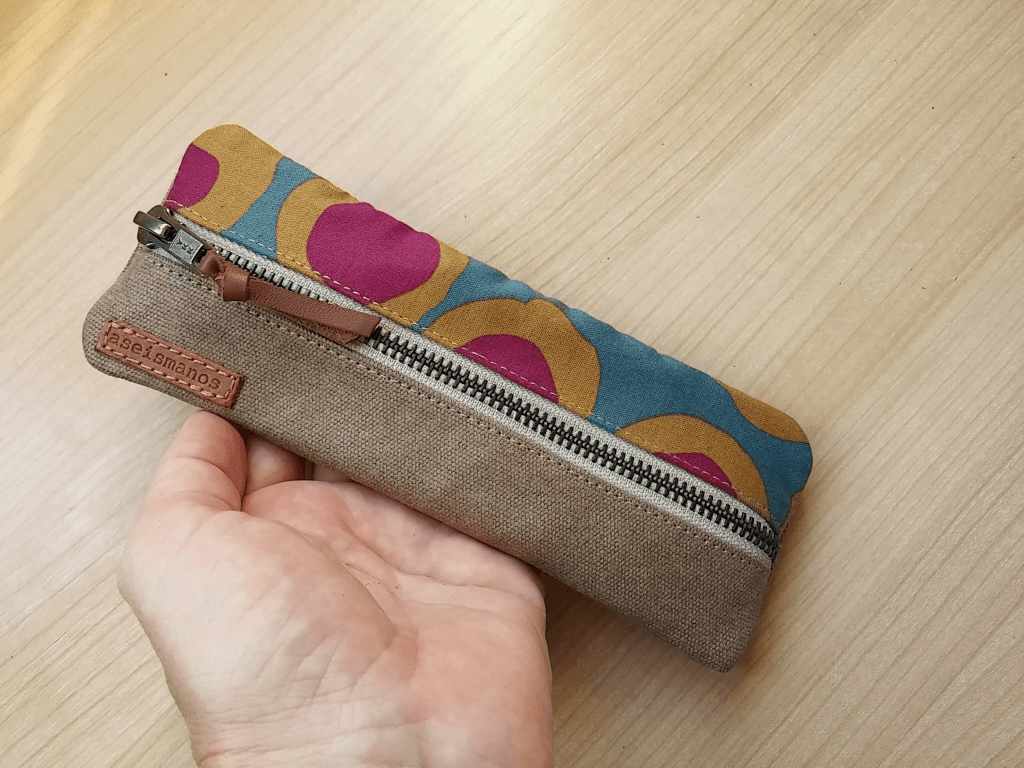 pouch held in hand