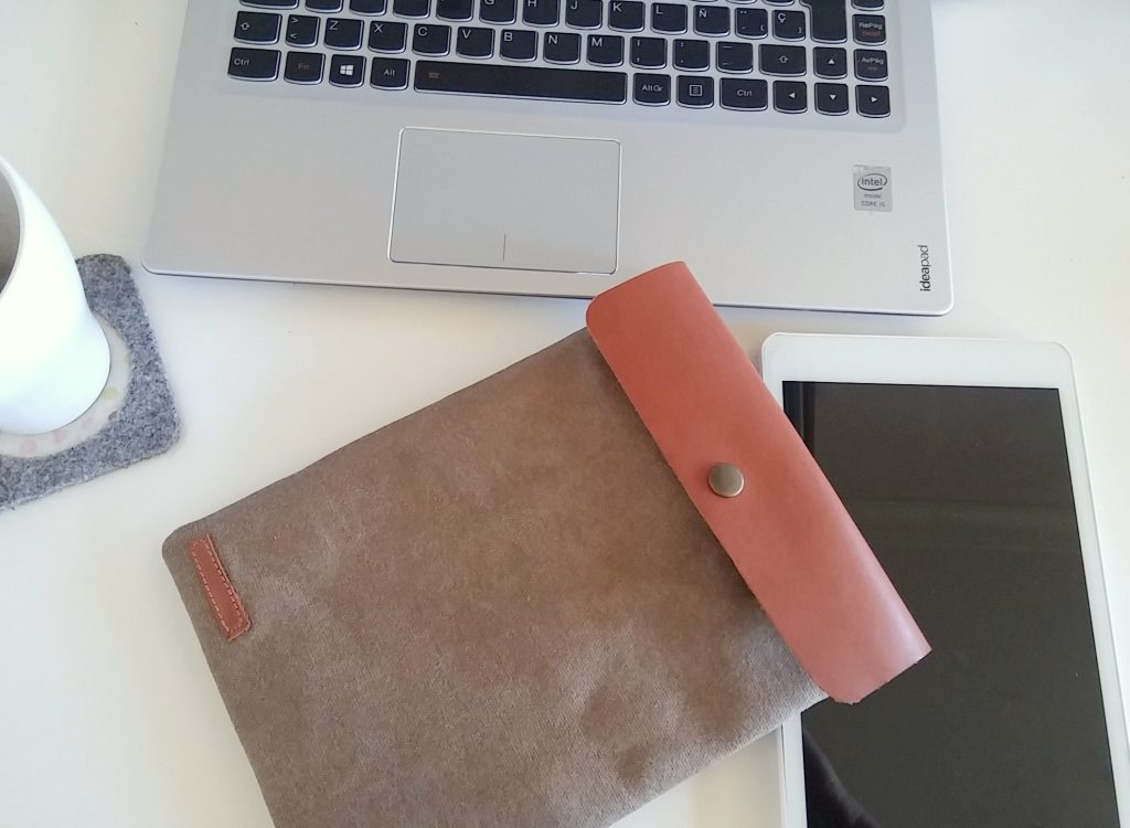 I pad case on table