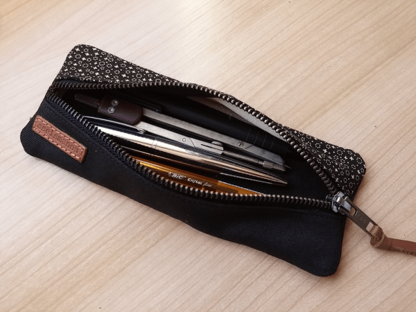 pencil case with pens inside