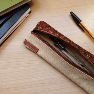 pencil pouch on table