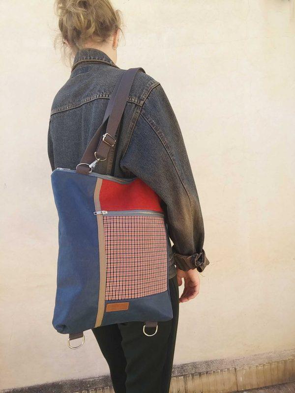 Model wearing as a bag
