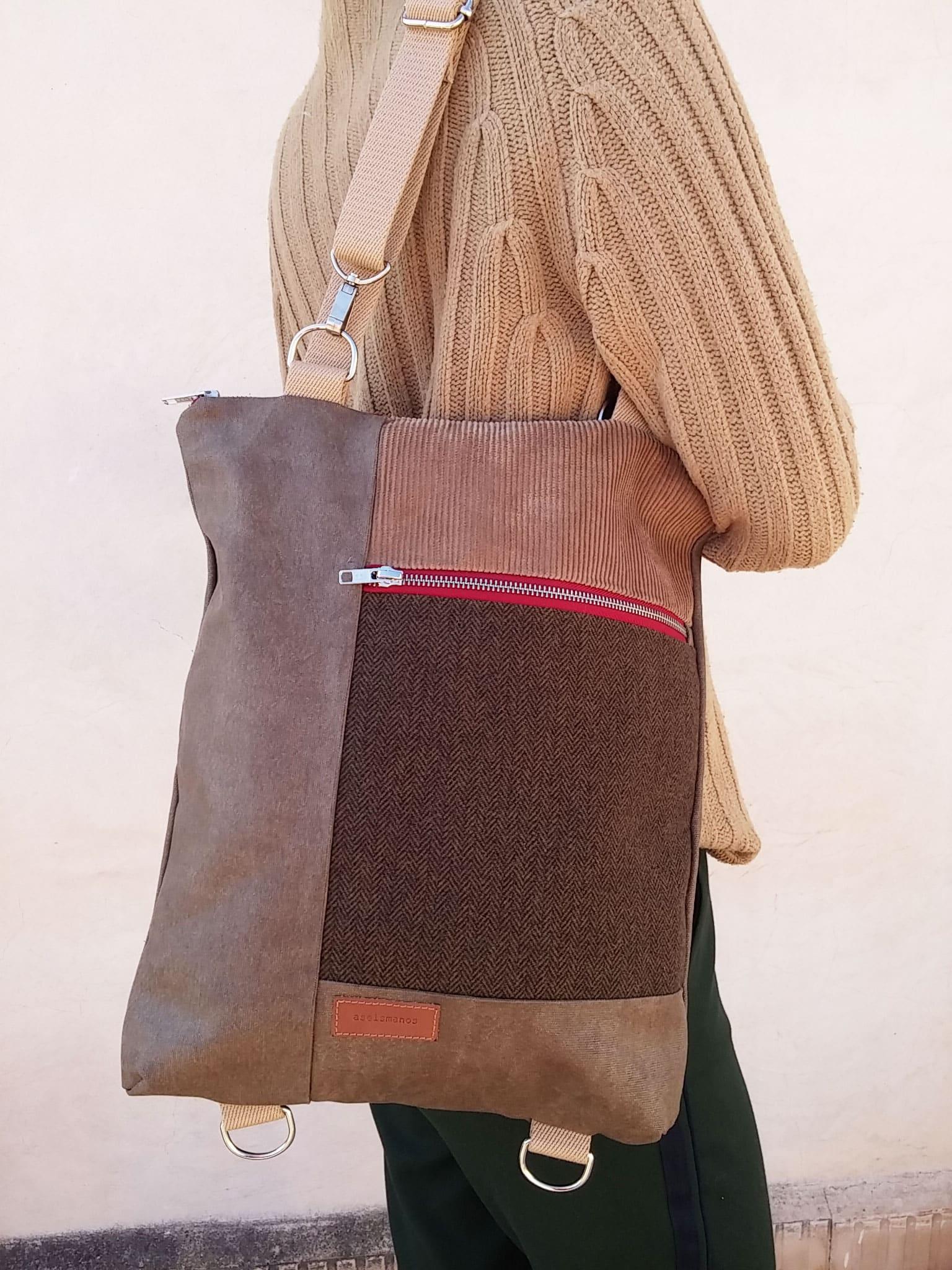 worn as a shoulder bag