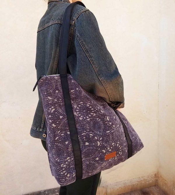 purple bag close view