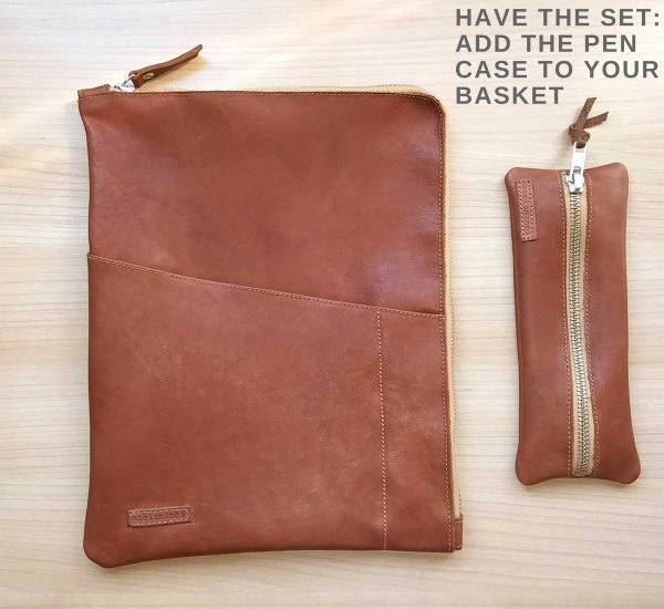 leather planner sleeve set