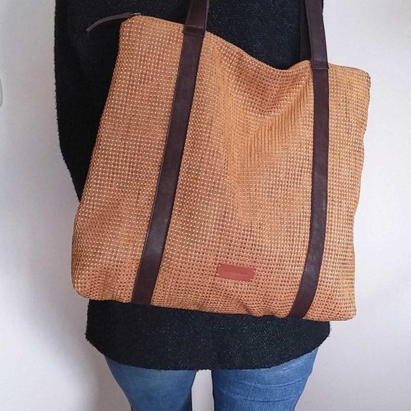 mustard tote bag size idea