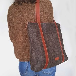 waxed woold tote worn