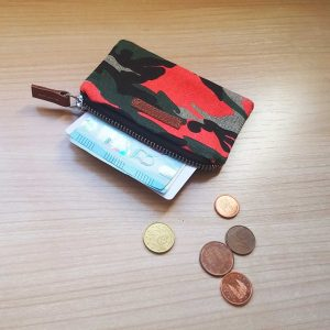camo wallet orange option