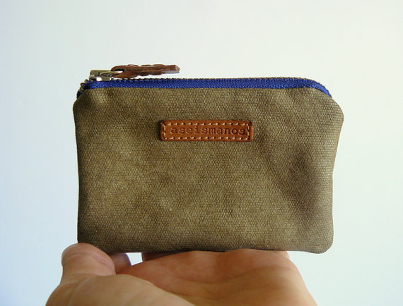 coin purse held in hand