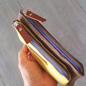 showing blue zippers