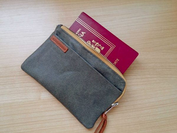 with passport inside