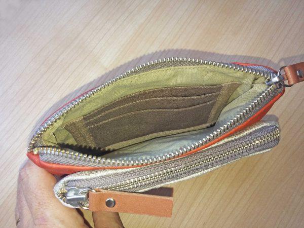 showing inside card pockets