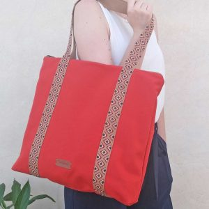 canvas tote bag close view