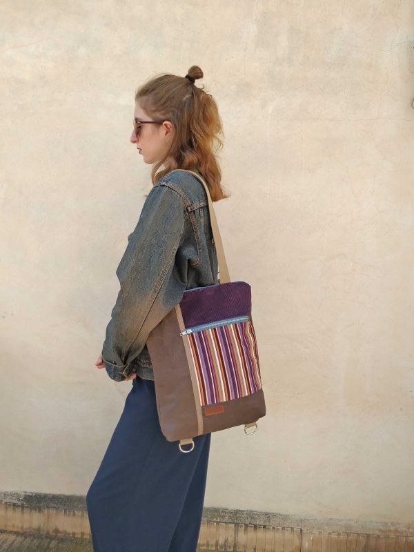 wearing as a shoulder bag