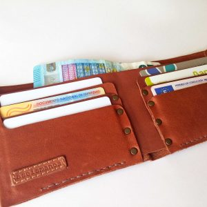 open wallet with cards