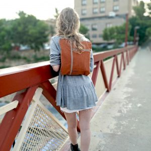 burnt orange backpack