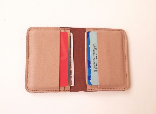 open wallet with cards inside