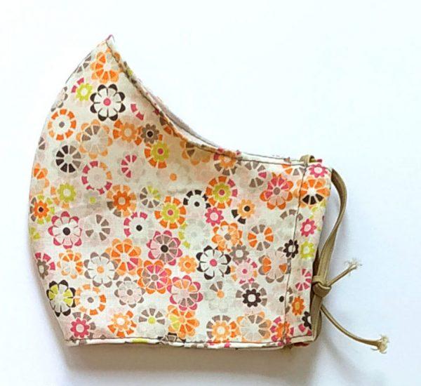 mascarilla algodón flores