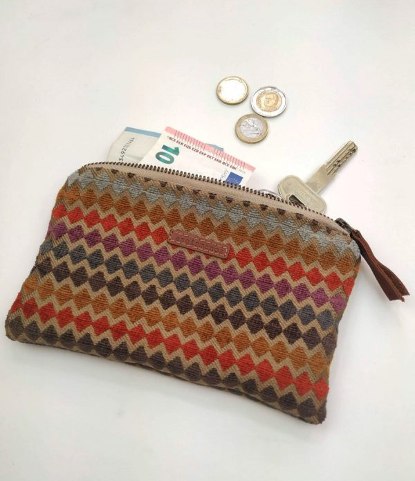 pouch with cash and keys