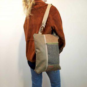 wearing it as a shoulder bag