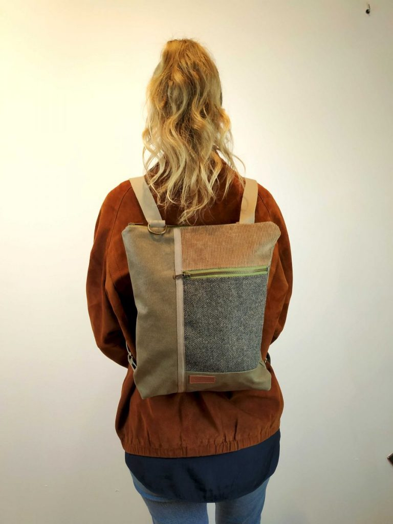 front view of the backpack when wearing it