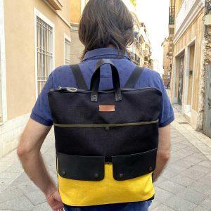backpack wearing it